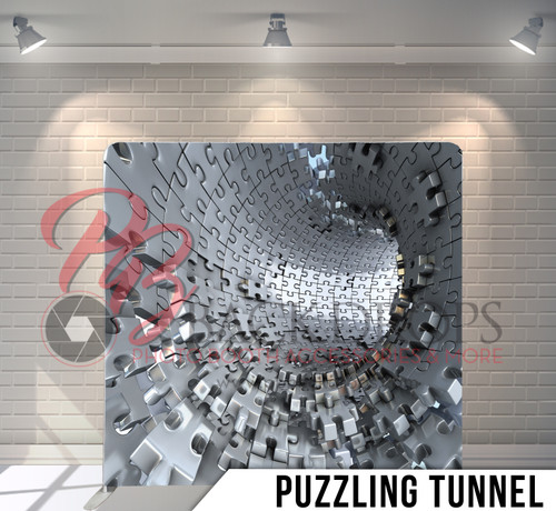Single-sided Pillow Cover Backdrop  (Purzzling Tunnel)