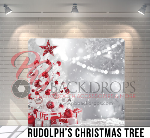 Single-sided Pillow Cover Backdrop  (Rudolphs's Christmas Tree)