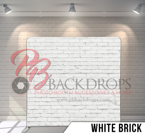 Single-sided Pillow Cover Backdrop  (White Brick)