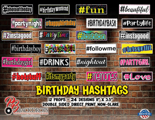 Birthday Hashtags Bundle