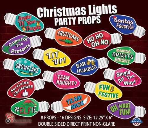 Christmas Lights Party Props Bundle