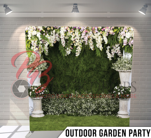 Single-sided Pillow Cover Backdrop  (Outdoor Garden Party)
