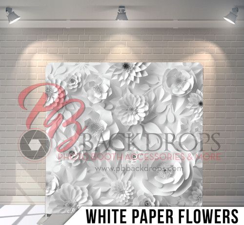Single-sided Pillow Cover Backdrop  (White Paper Flowers)