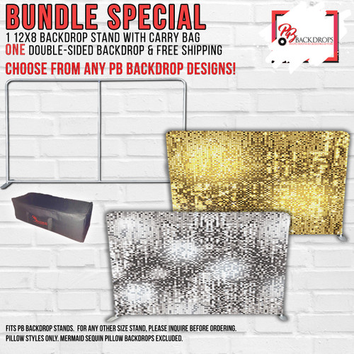 12x8 Pillow Cover Backdrop Frame and double sided backdrop