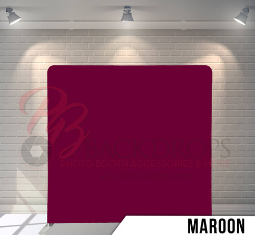 Single-sided Pillow Cover Backdrop  (Maroon)