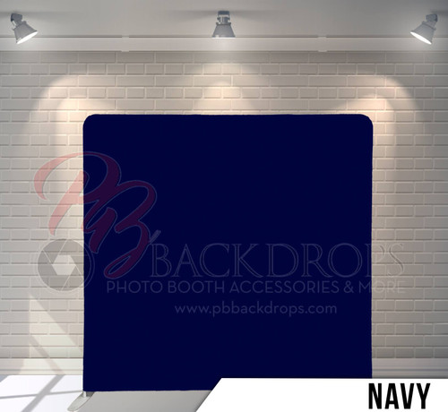 Single-sided Pillow Cover Backdrop  (Navy)