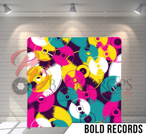 Single-sided Pillow Cover Backdrop  (Bold Records)