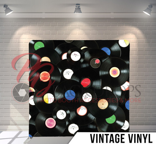Single-sided Pillow Cover Backdrop  (Vintage Vinyl)