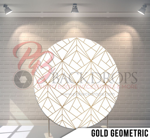 Circle Display 7ft. (Gold Geometric) Single side