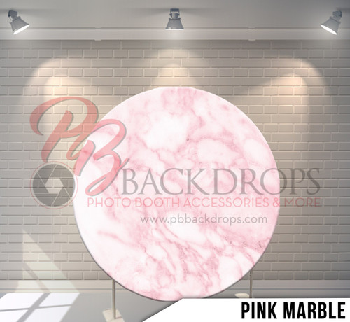 Circle Display 7ft. (Pink Marble) Single side