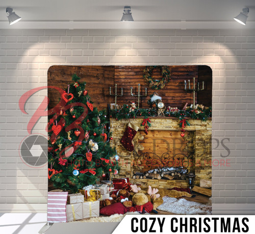 Single-sided Pillow Cover Backdrop  (Cozy Christmas)