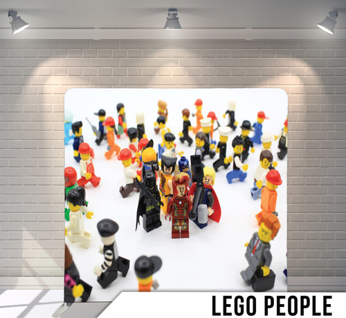 Single-sided Pillow Cover Backdrop  (Lego People)