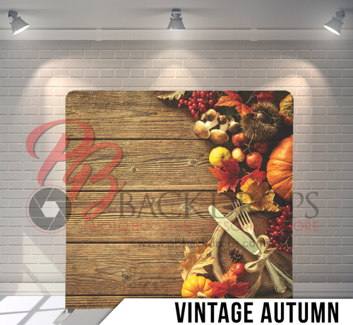 Single-sided Pillow Cover Backdrop  (Vintage Autumn)