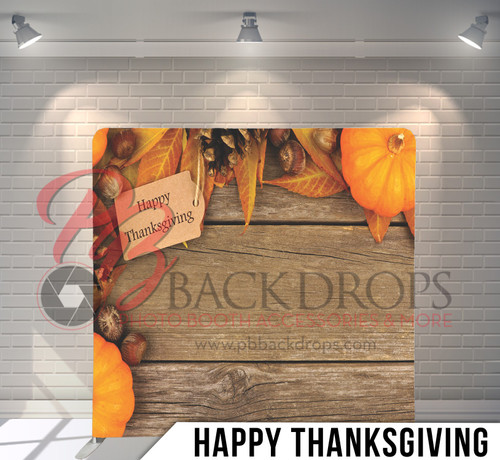 Single-sided Pillow Cover Backdrop  (Happy Thanksgiving)