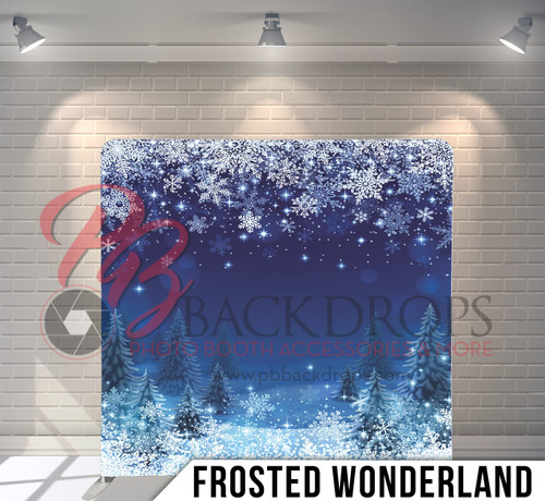 Single-sided Pillow Cover Backdrop  (Frosted Wonderland)