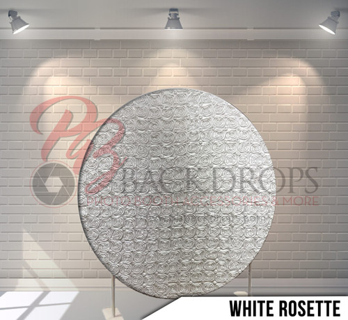 Circle Display 7ft. (Rosette White) Single side