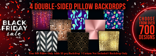 4x Double-sided Pillow Cover Backdrop  (Any Design of our 700+ Printed)