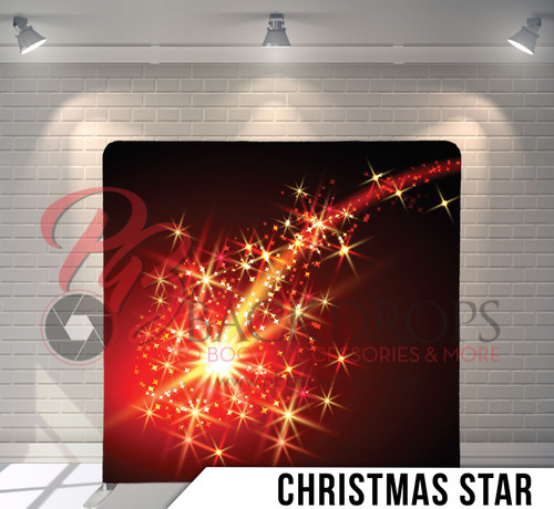 Single-sided Pillow Cover Backdrop  (Christmas Star)
