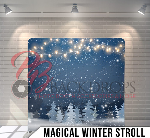 Single-sided Pillow Cover Backdrop  (Magical Winter Stroll)