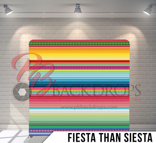 Single-sided Pillow Cover Backdrop  (Fiesta than Siesta )