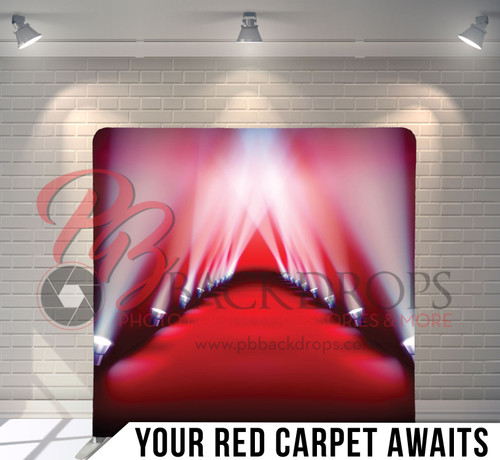 Single-sided Pillow Cover Backdrop  (Red Carpet Awaits)