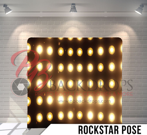 Single-sided Pillow Cover Backdrop  (Rockstar Pose)