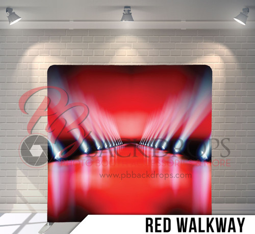 Single-sided Pillow Cover Backdrop  (Red Walkway)