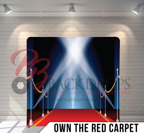 Single-sided Pillow Cover Backdrop  (Own the Red Carpet)