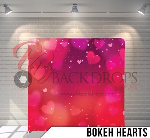 Single-sided Pillow Cover Backdrop  (Bokeh Hearts)