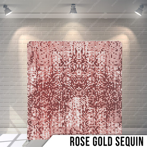 Single-sided Pillow Cover Backdrop  (Rose Gold Sequins)