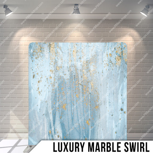 Single-sided Pillow Cover Backdrop  (Luxury Marble Swirl)