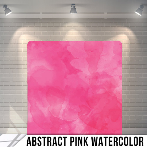 Single-sided Pillow Cover Backdrop  (Abstract Pink Watercolor)
