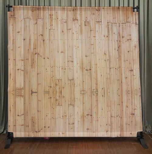 8x8 Printed Tension fabric backdrop - Light wood | PB Backdrops