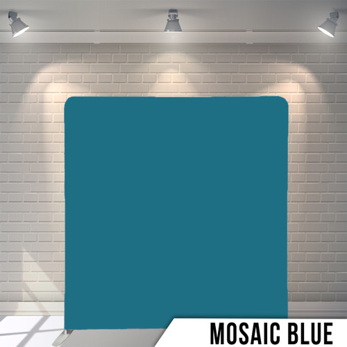 Single-sided Pillow Cover Backdrop  (Mosaic Blue)
