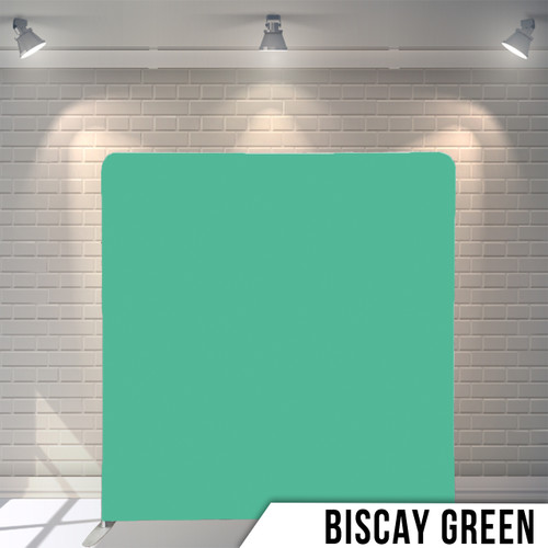 Single-sided Pillow Cover Backdrop  (Biscay Green)