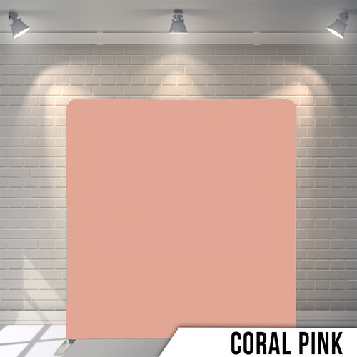 Single-sided Pillow Cover Backdrop  (Coral Pink)