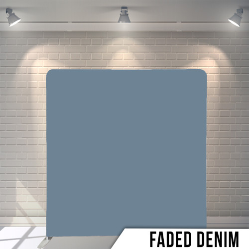 Single-sided Pillow Cover Backdrop  (Faded Denim)