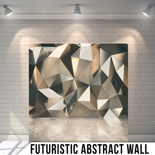Single-sided Pillow Cover Backdrop  (Futeristic Abstract Wall)