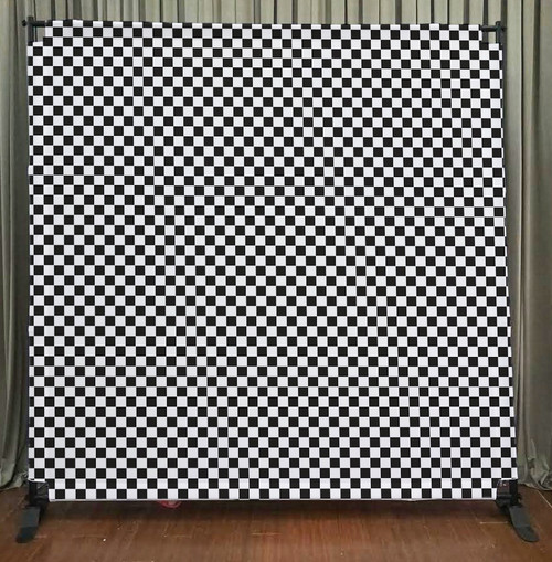 8x8 Printed Tension fabric backdrop - 80's Style Checkerboard | PB Backdrops