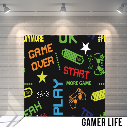 Single-sided Pillow Cover Backdrop  (Gamer Life)