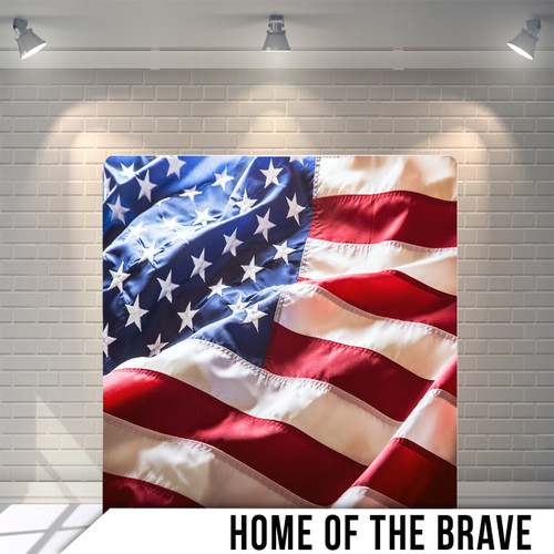 Single-sided Pillow Cover Backdrop  (Home of the Brave)