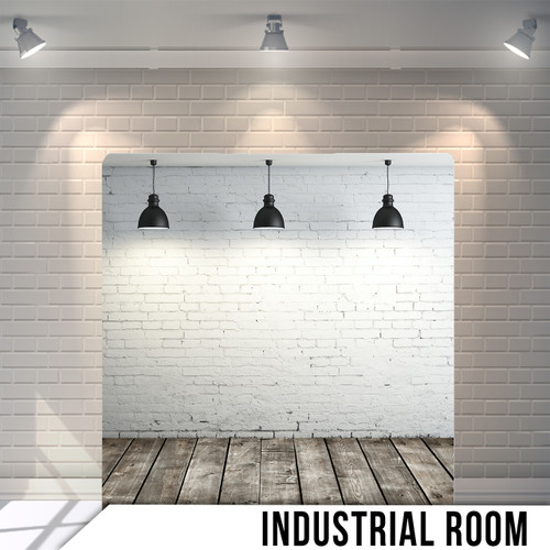 Single-sided Pillow Cover Backdrop  (Industrial Room)