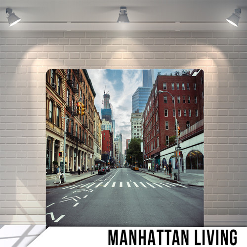 Single-sided Pillow Cover Backdrop  (Manhattan Living)