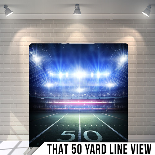 Single-sided Pillow Cover Backdrop  (The 50 Yard Line View)