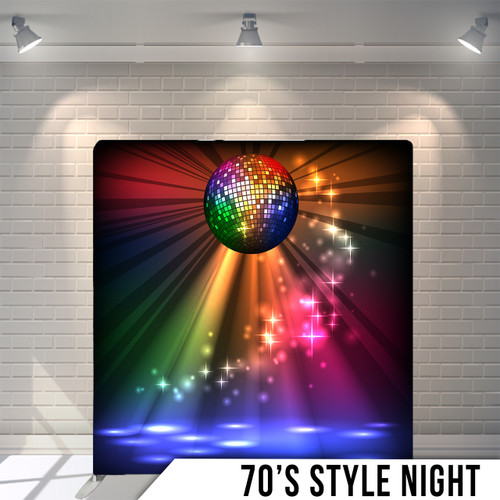Single-sided Pillow Cover Backdrop  (70's Style Night)