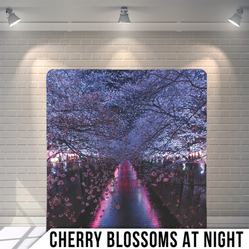 Single-sided Pillow Cover Backdrop  (Cherry Blossoms at Night)