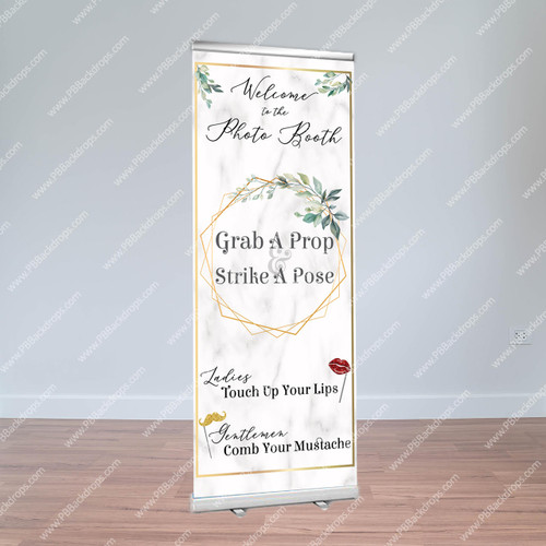Modern Marble Retractable Banner