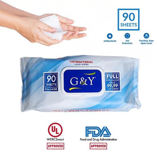 Antibacterial Disinfectant Wipes -Case 90 wipes per pack 12 packs per case