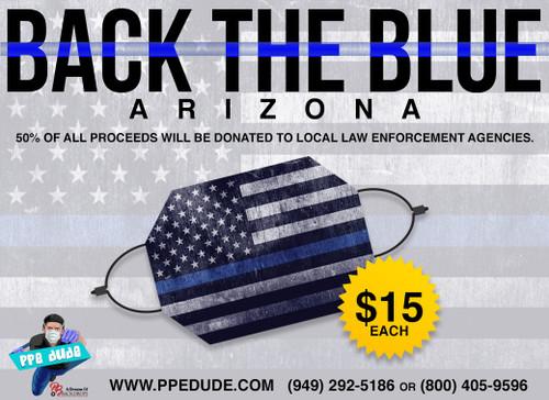 Back the Blue Face Masks Promo