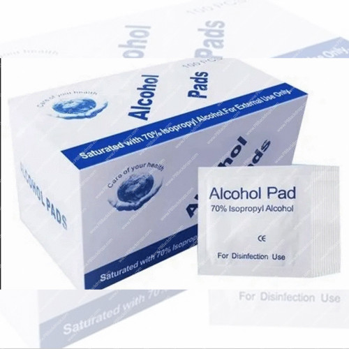 3 packs of 100 Pcs 70% Alcohol Cotton Slices, Alcohol Gauze Pads Individually Wrapped Swap Pad for Cleaning Care
